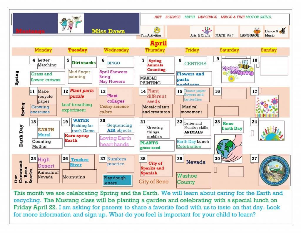 APRIL MUSTANG Calendar