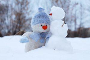 snowman with beanie
