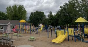 Discoveries preschool remodeled Playground